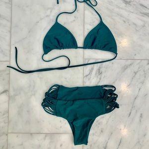 NWOT Mikoh Bikini Green Teal Scuba
